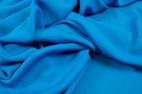 Crepe de chine silk caribic blue