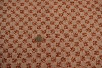 Potlačená bavlna - cheks orange