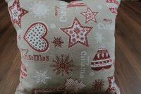 Vianočný žakárový vankúš - poťah