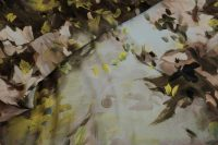 Elastický hodvábny satén-brown