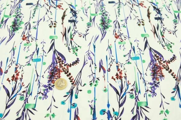 Viscose print meadow