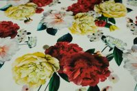 Elastický satén - roses