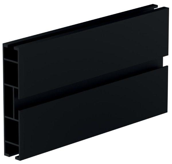 Alumíniový profil - čierna/mat Top line