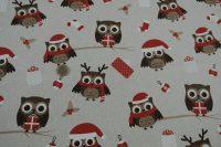 Vianočná potlač - sova Olaf
